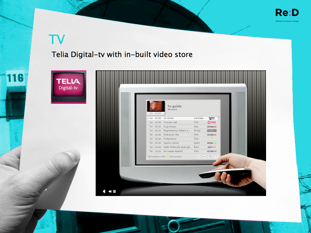 Telia Digital-tv with in-built video store