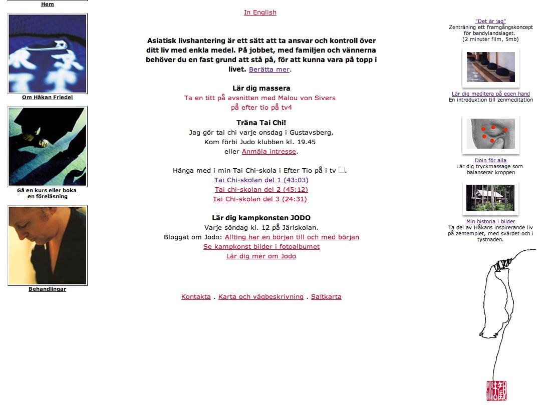 Håkan Friedel hemsida om asiatisk livshantering