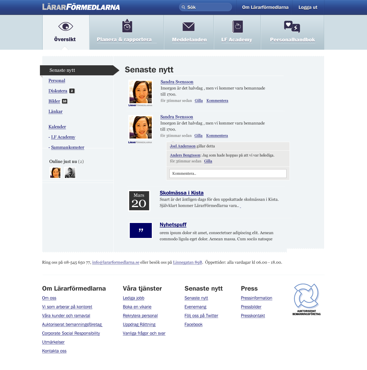 Social intranet for Lärarformedlarna