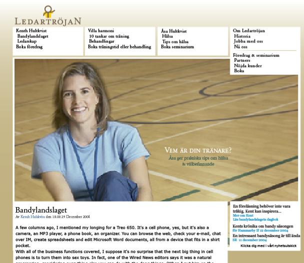 Designförslag till sajt